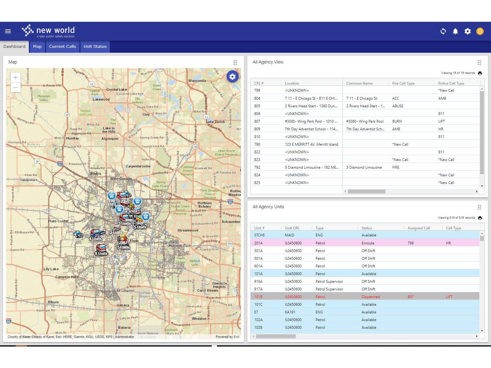 New World Enterprise 911 Dispatch Software | Tyler Technologies