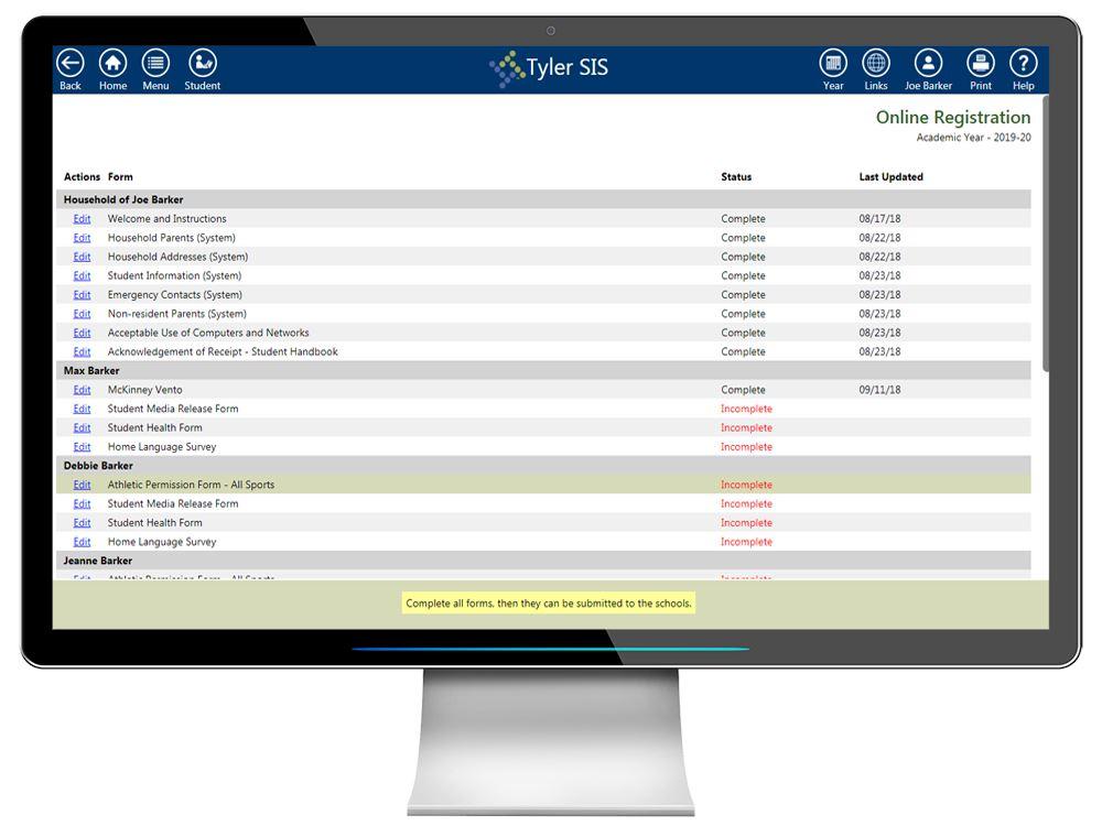Tyler SIS Online Registration | Tyler Technologies